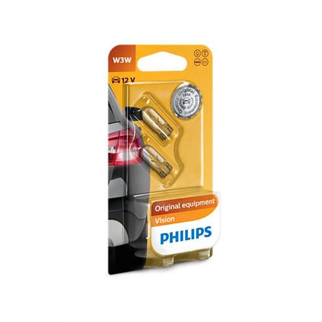 2 Ampoules Philips W3w 3w 12 V