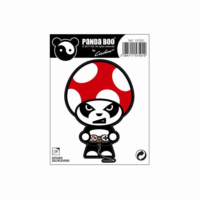 1 Sticker Autocollant Cadox Pandaboo Geek