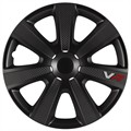 4 siervelgen 4RACING VR Carbon Look zwart 14'