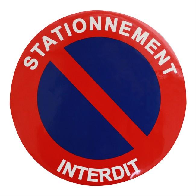 1 Disque De Stationnement Interdit O 25 Cm Autocollant Auto5 Be
