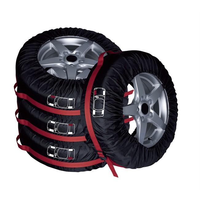 4 housses pneus 1er prix confiance noires. Black Bedroom Furniture Sets. Home Design Ideas
