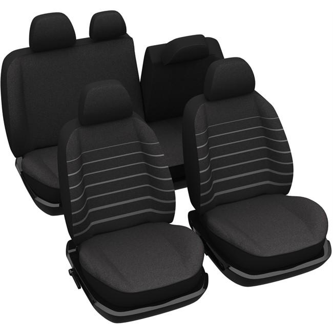 jeu complet de housses universelles voiture sp cial citadine norauto marini re noires. Black Bedroom Furniture Sets. Home Design Ideas