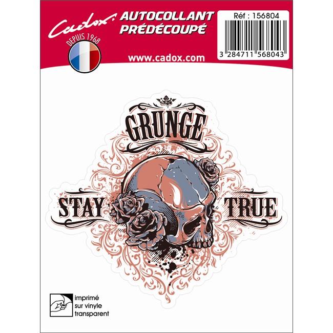 1 Sticker Autocollant Cadox Crâne Rouge