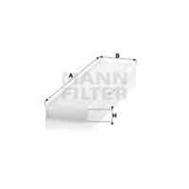 Filtre D'habitacle Pollen Mann-filter Cu4436
